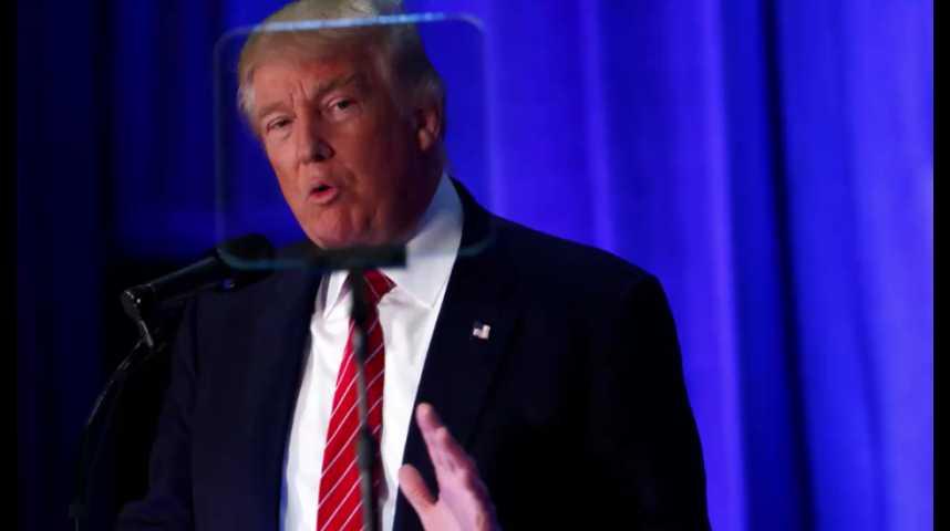 Illustration pour la vidéo Trump muscle son discours antiterroriste pour espérer rebondir
