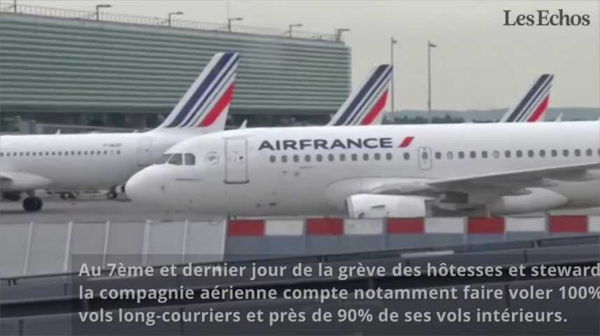 Illustration pour la vidéo Grève à Air France : le ciel devrait s'éclaircir mardi