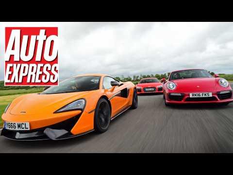 McLaren 570S vs Audi R8 V10 Plus vs Porsche 911 Turbo S: supercar track battle!