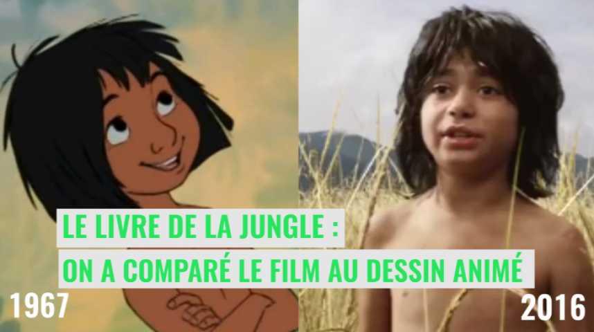 Video Le Livre De La Jungle On A Compare Le Film Au Dessin Anime