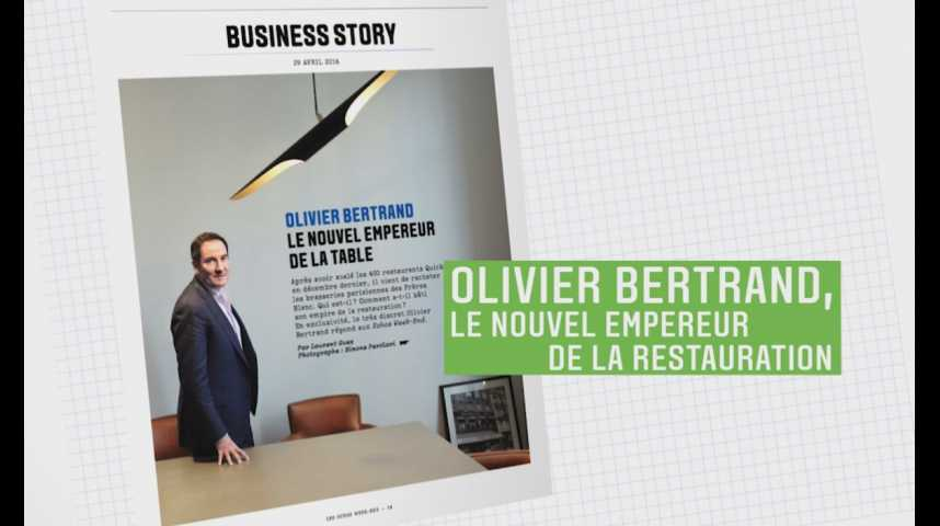 Illustration pour la vidéo Les Echos Week-End : Olivier Bertrand, le nouvel empereur de la table