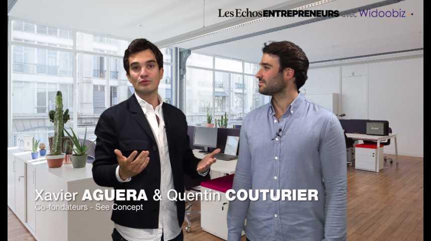 Illustration pour la vidéo « Dans un marché saturé, focus sur le client », Quentin Couturier et Xavier Aguera de SeeConcept