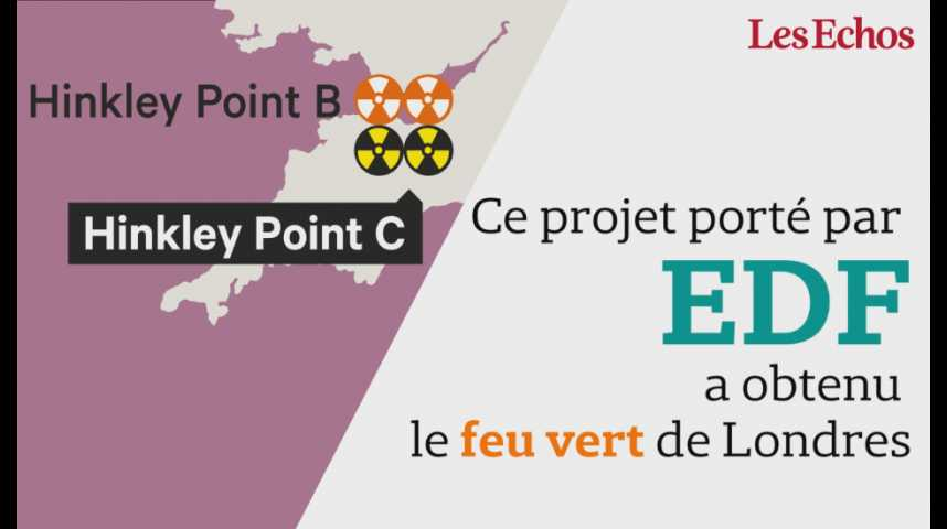 Illustration pour la vidéo Le projet de construction de deux EPR à Hinkley Point va coûter 21,1 milliards d'euros