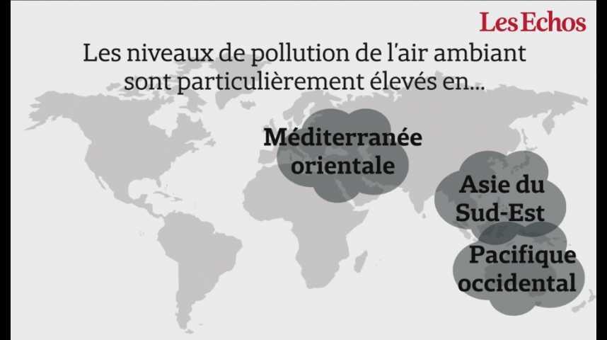 Illustration pour la vidéo 92% de la population mondiale respire un air ambiant trop pollué