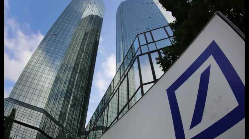 Illustration pour la vidéo Quand les difficultés de la Deutsche Bank deviennent une affaire politique