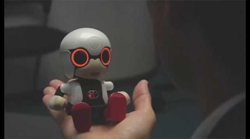 Illustration pour la vidéo Toyota lance un mini robot androïde