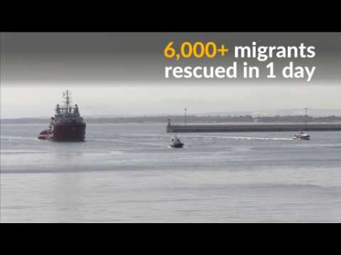 Over 6,000 migrants rescued in single day
