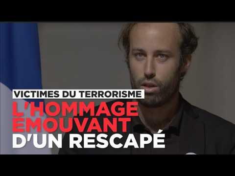 L'hommage poignant d'un rescapé du Bataclan aux victimes du terrorisme