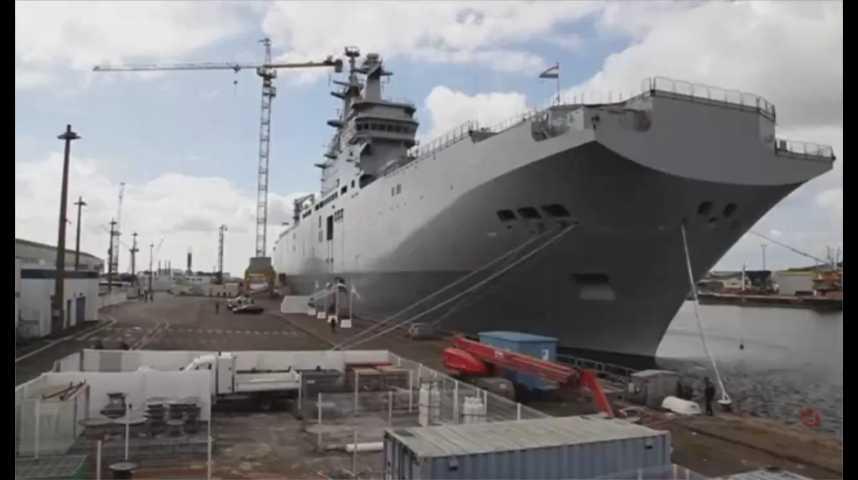 Illustration pour la vidéo Le second navire de guerre Mistral livré à l'Egypte a quitté Saint-Nazaire