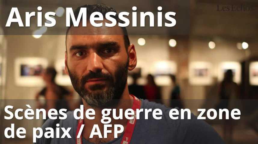 """Illustration pour la vidéo  Photojouralisme """"Visa pour l'image""""  Aris Messinis : Scènes de guerre en zone de paix / AFP."""