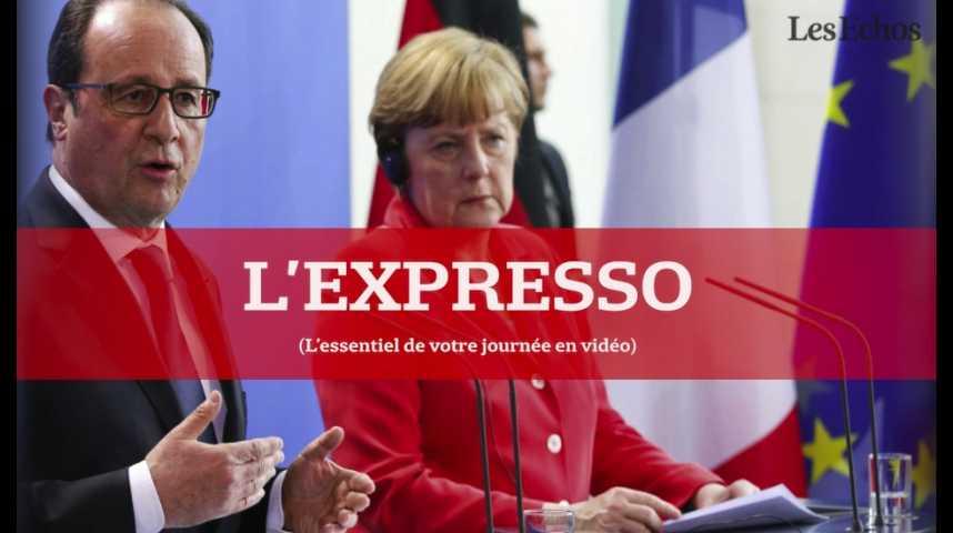 Illustration pour la vidéo L'Expresso du 2 septembre 2016 : traité de libre-échange, vers une mise au point entre Hollande et Merkel à Evian ?
