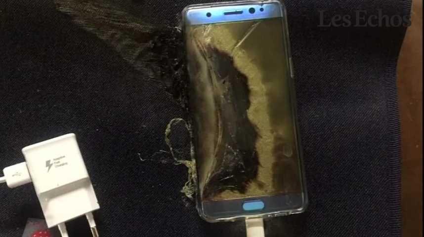 Illustration pour la vidéo Les risques d'explosion du Galaxy Note 7 plongent Samsung dans la tourmente