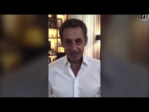 Sarkozy souhaite un joyeux anniversaire à Hanouna