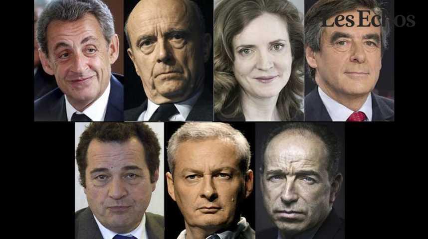 Illustration pour la vidéo  Primaire de la droite: la campagne officielle démarre avec 7 candidats