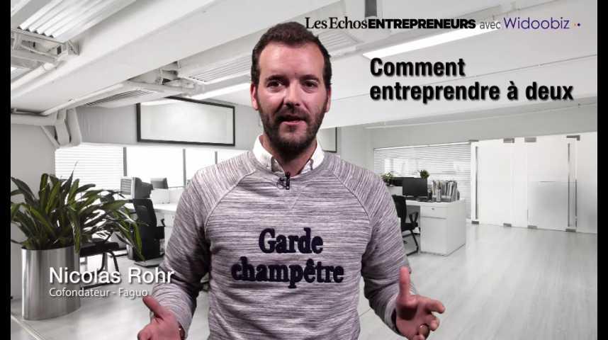 Illustration pour la vidéo Entreprendre à deux, par Nicolas Rohr