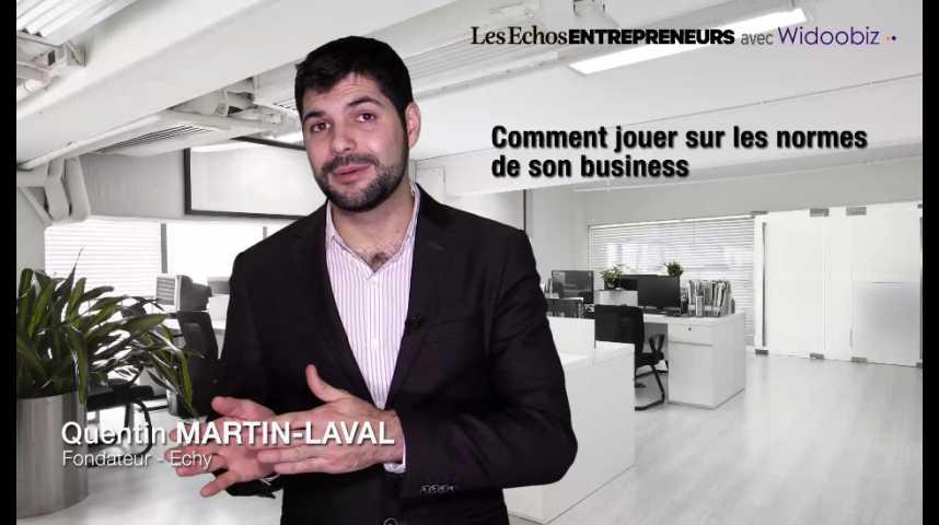 Illustration pour la vidéo Savoir jouer sur les normes de son business, par Quentin Martin-Laval