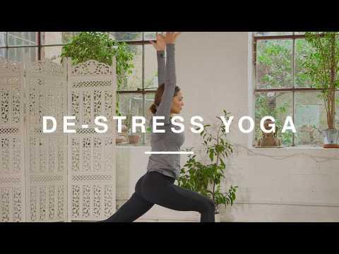 15 Minute De-Stress Yoga Routine | Danielle Hayley | Wild Dish