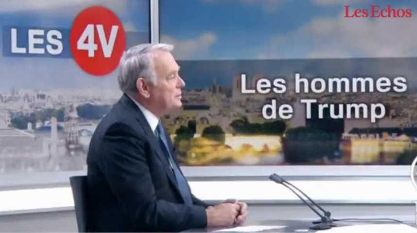 Illustration pour la vidéo Diplomatie : Jean-Marc Ayrault fait la leçon à Donald Trump