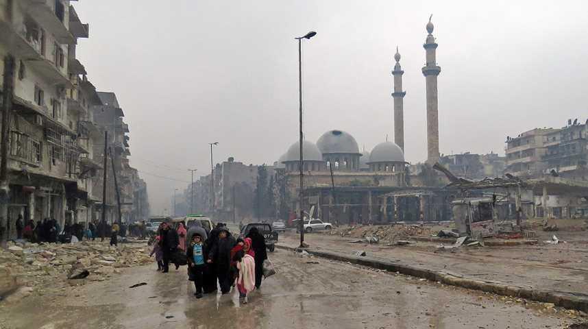 Illustration pour la vidéo Les derniers jours d'Alep