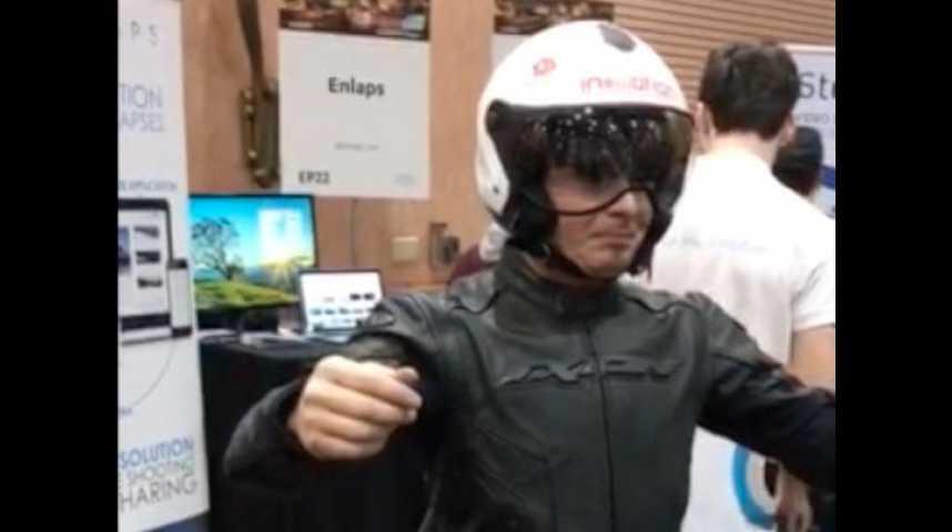 Illustration pour la vidéo Airbag pour motard, violon 3D... 3 innovations surprenantes du CES 2017