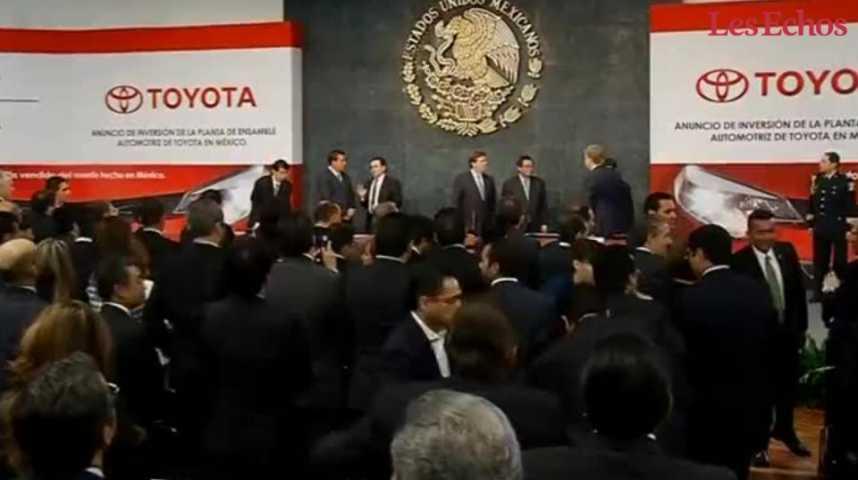 Illustration pour la vidéo Trump menace Toyota