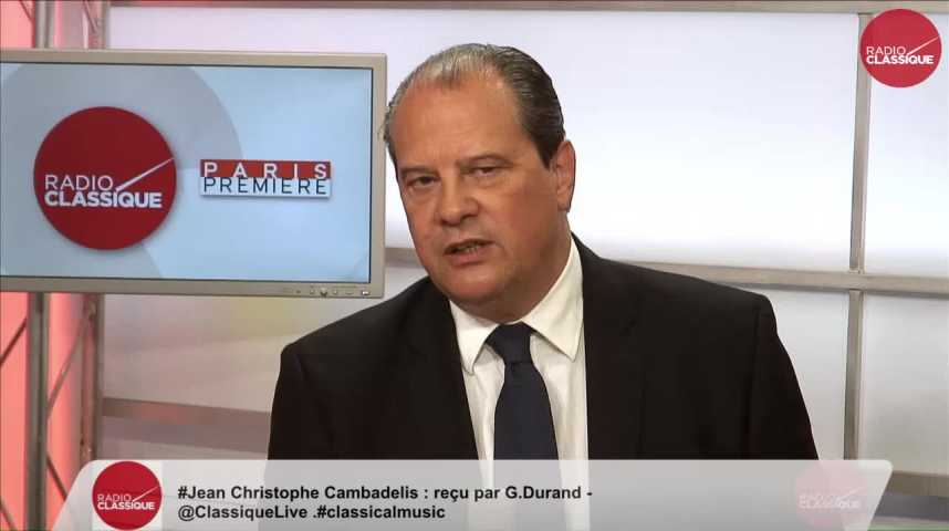 """Illustration pour la vidéo """"J'estime entre 1,5 million et 2 millions le nombre de votants à la primaire de gauche"""" Jean-Christophe Cambadélis (09/01/2017)"""