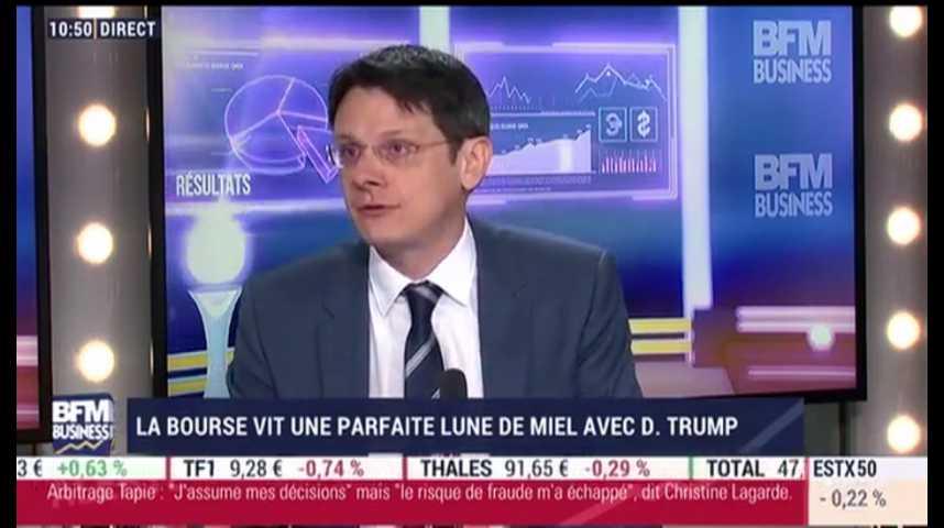 """Illustration pour la vidéo La Bourse vit sa """"Lune de miel"""" avec Trump"""