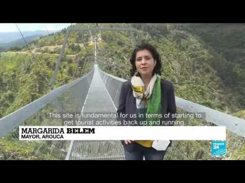 Don't look down: Portugal opens world's longest suspension footbridge