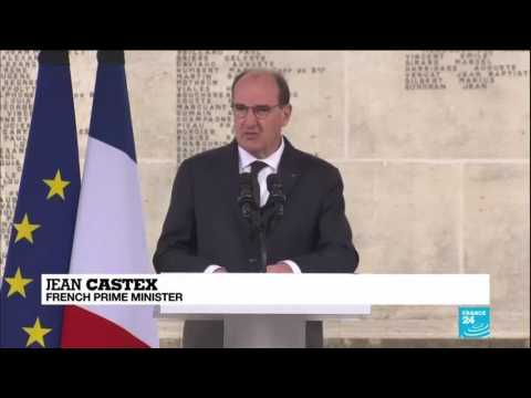 French PM Castex pays tribute to slain police worker