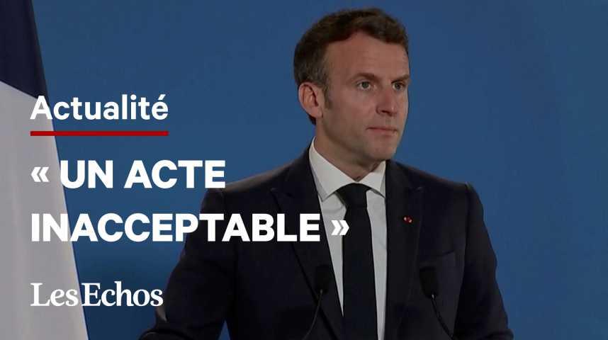 Illustration pour la vidéo Avion détourné : « Nous sommes à un moment de vérité dans notre relation avec la Russie », déclare Emmanuel Macron