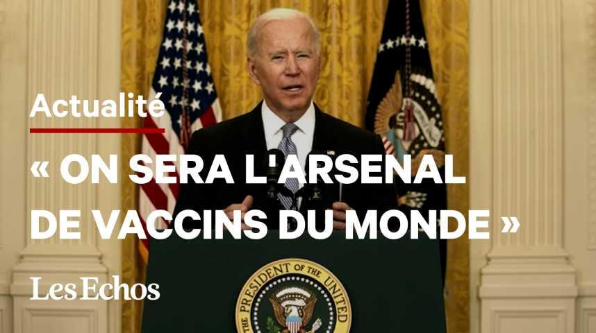 Illustration pour la vidéo Joe Biden annonce l'envoi de 20 millions de doses de vaccins contre le Covid-19 à l'étranger