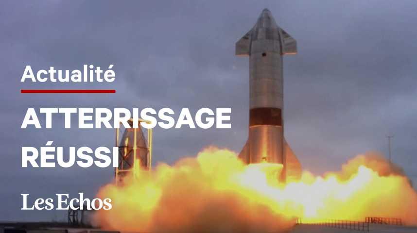 Illustration pour la vidéo Après quatre explosions, la fusée Starship de SpaceX réussit son atterrissage