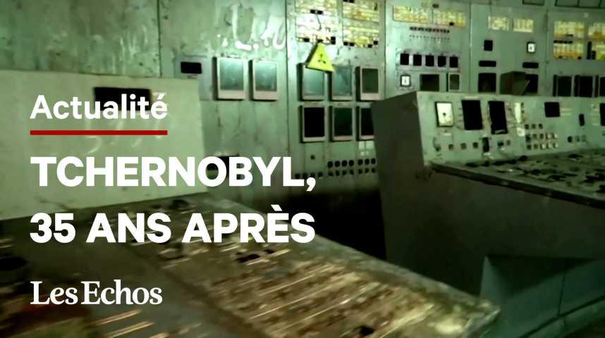 Illustration pour la vidéo L'Ukraine commémore la catastrophe de Tchernobyl, 35 ans après