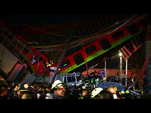 At least 15 dead, 70 injured as Mexico City metro overpass collapses onto road