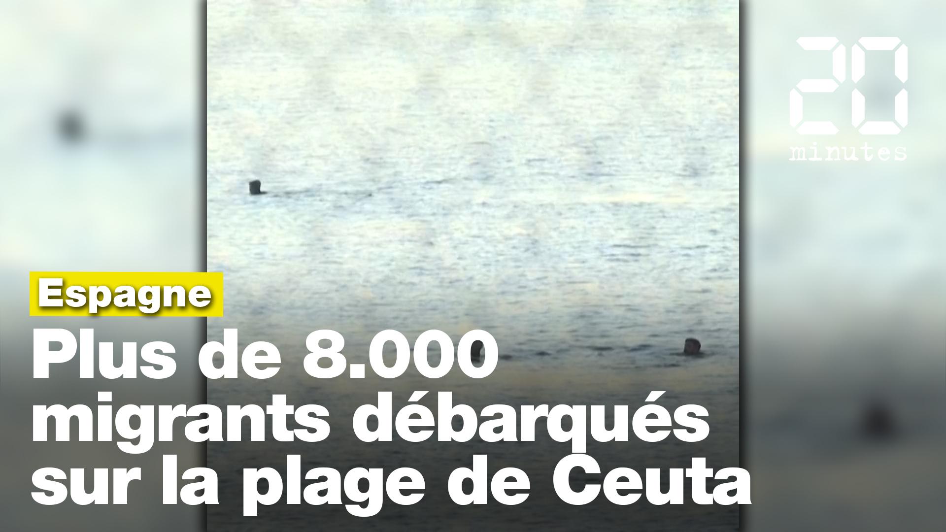 Près de 8.000 migrants ont émergé sur la plage de l'enclave espagnole Ceuta