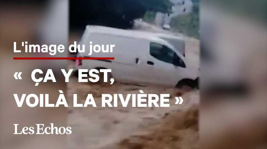 Illustration pour la vidéo A Dinant, un torrent de boue dévaste une rue en quelques minutes