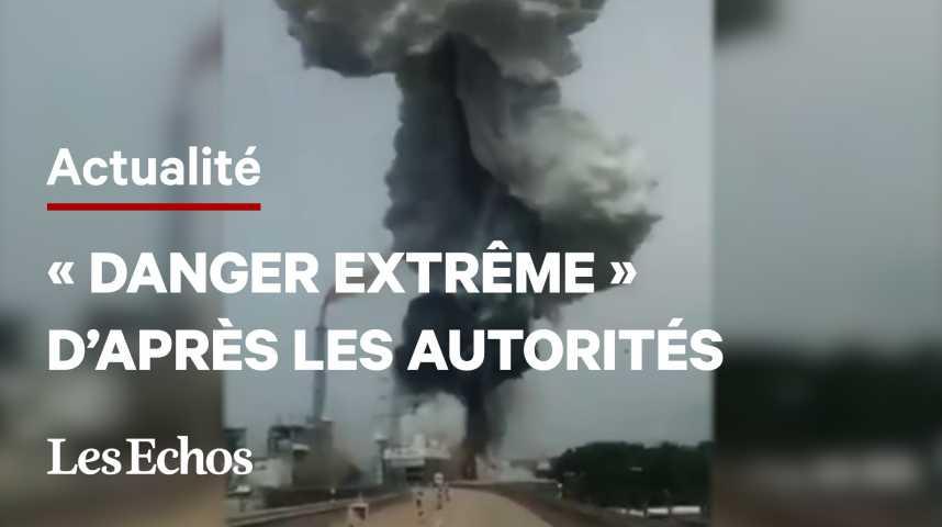Illustration pour la vidéo Explosion sur un site de traitement de déchets en Allemagne