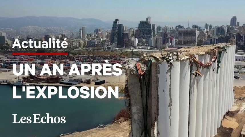 Illustration pour la vidéo Au Liban, rage et douleur un an après l'explosion au port de Beyrouth