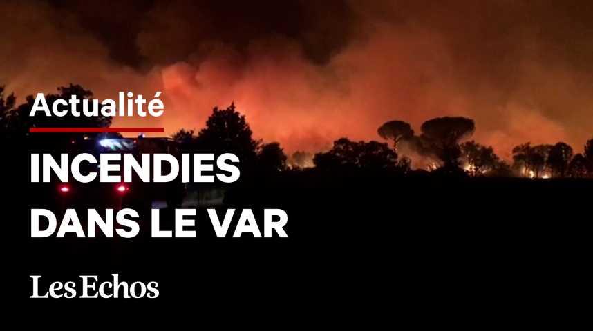 Illustration pour la vidéo En Côte d'Azur, 1 200 pompiers toujours mobilisés pour éteindre l'incendie