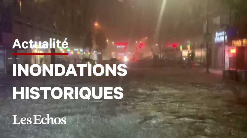 Illustration pour la vidéo Inondations record à New York après le passage d'Ida, au moins 44 morts