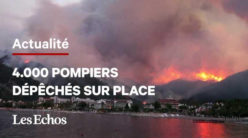 Illustration pour la vidéo Le sud de la Turquie ravagé par des incendies