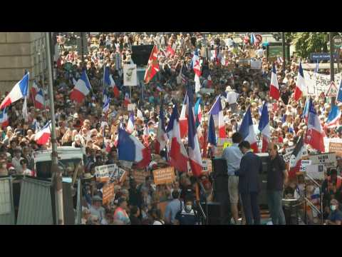 Paris anti-health pass demonstration called by Florian Philippot