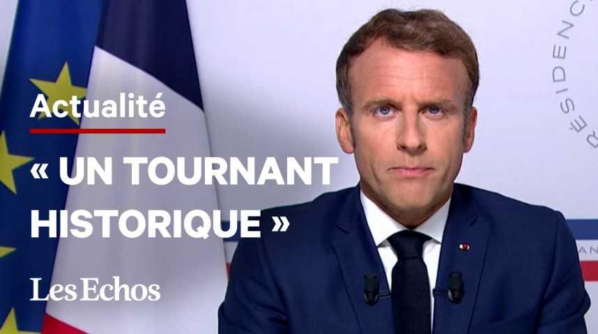 Illustration pour la vidéo Emmanuel Macron : « Un tournant historique est à l'œuvre en Afghanistan »