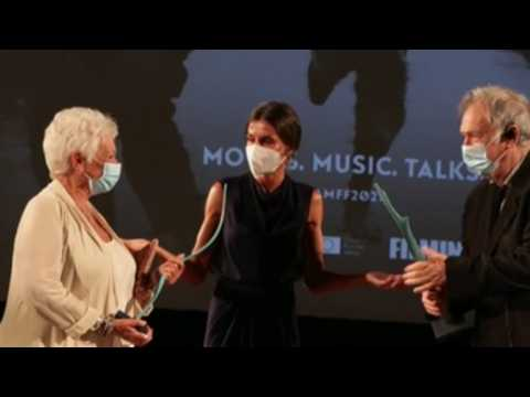 British actress Judi Dench receives Masters of Cinema award from Queen Letizia of Spain