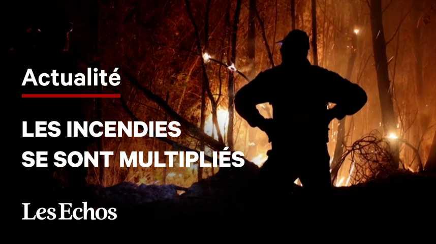 Illustration pour la vidéo Les incendies se multiplient en Turquie, en Grèce et en Sicile