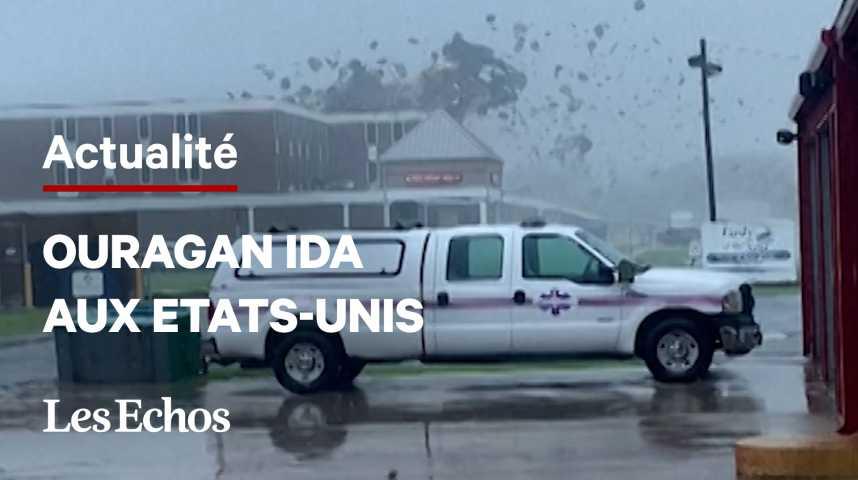 Illustration pour la vidéo Ouragan Ida : la Nouvelle-Orléans se retrouve sans électricité