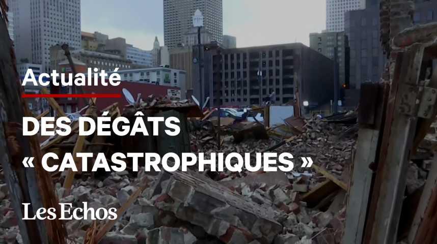 Illustration pour la vidéo La Louisiane face aux dégâts « catastrophiques » de l'ouragan Ida