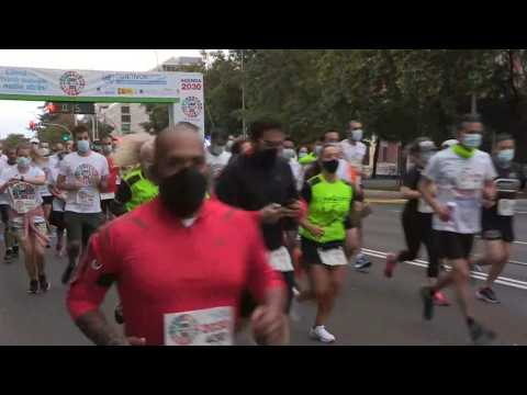 Hundreds take part in race in Madrid for sustainable future