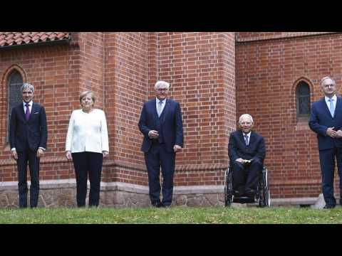 'Democracy is under attack' says Merkel at German reunification ceremony