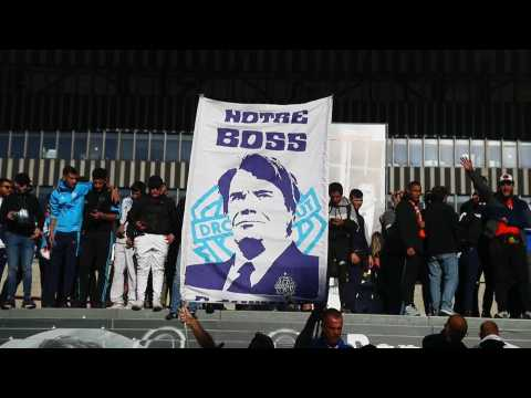 Fans pay tribute to Olympique Marseille icon Bernard Tapie